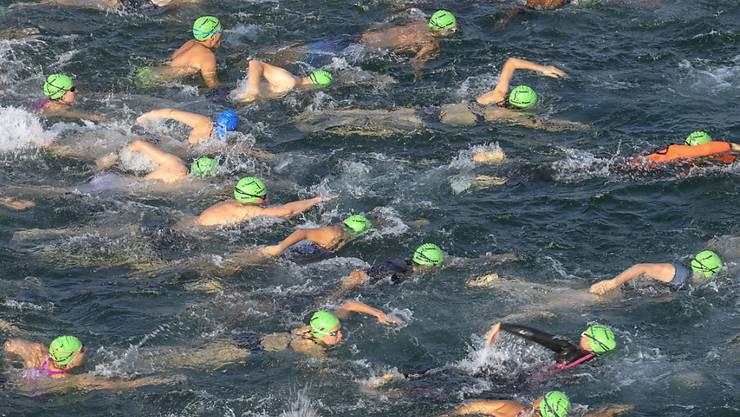 Der schnellste Schwimmer brauchte für die 1800 Meter 21 Minuten, die langsamste Schwimmerin eine Stunde und 17 Minuten. (Archivbild)