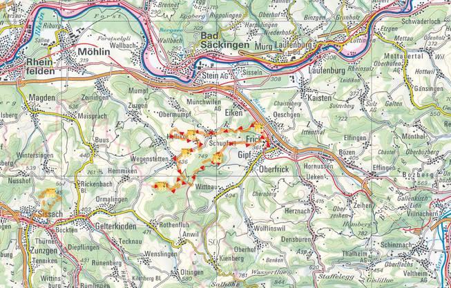 Besonders im Frühling ist diese E-Bike-Tour ein Genuss, wenn die Kirschbäume des Fricktals langsam in Blüte kommen. Diese Rundtour startet und endet in Frick und führt über den Tiersteinberg an zahlreichen Attraktionen wie an der Ruine Tiersteinberg, einem keltischen Grabhügel, an Kraftorten der Buchberg-Kapelle sowie an der Lourdes-Grotte vorbei. Für den kleinen Imbiss zwischendurch sorgen regionale Spezialitäten aus den Hofläden oder aber man nutzt eine der Feuerstellen auf der Wegenstetter oder der Schupfarter Fluh. Diese Tour ist am besten mit einem robusten E-Bike mit etwas dickeren Pneus zu befahren. www.schweizmobil.ch