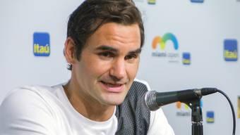 Roger Federer in Miami.