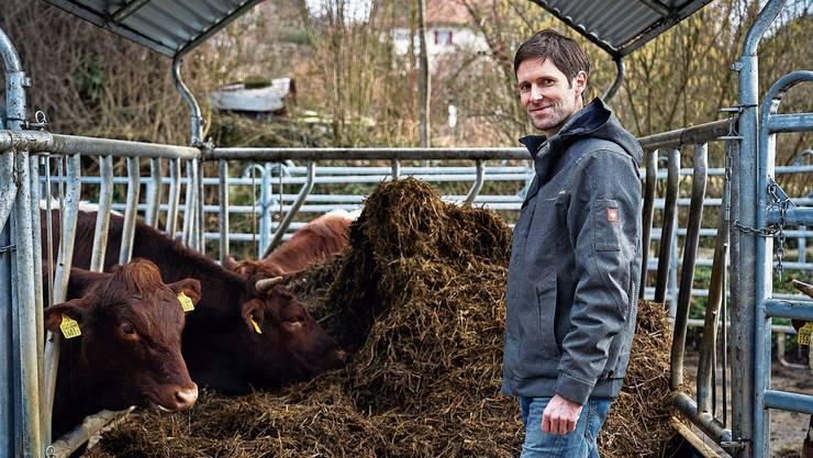 Bio-Bauer Kilian Baumann: «Ein Hof soll nur so viele Tiere haben, die er auch mit dem eigenen Futter versorgen kann.»