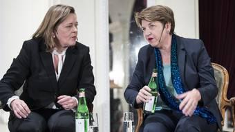 Heidi Z'graggen (links) und Viola Amherd: Eine wird wohl nächste CVP-Bundesrätin.