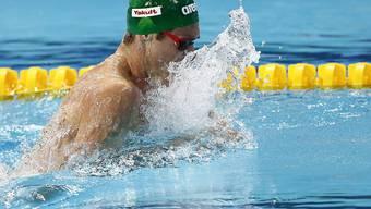 Der Südafrikaner Cameron van der Burgh benötigte für 50 m Brust nur 26,62 Sekunden