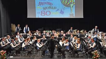 Der musikalische Höhepunkt: Die «Konkordia» Balsthal mit der Filmmusik zu «Around the world in 80 days».