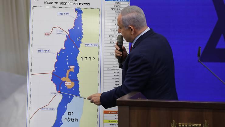Will im Falle seiner Wiederwahl das Jordantal im Westjordanland annektieren lassen: Israels Ministerpräsident Benjamin Netanjahu.