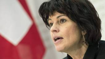 Bundesrätin Doris Leuthard spricht zur FABI-Vorlage in Bern