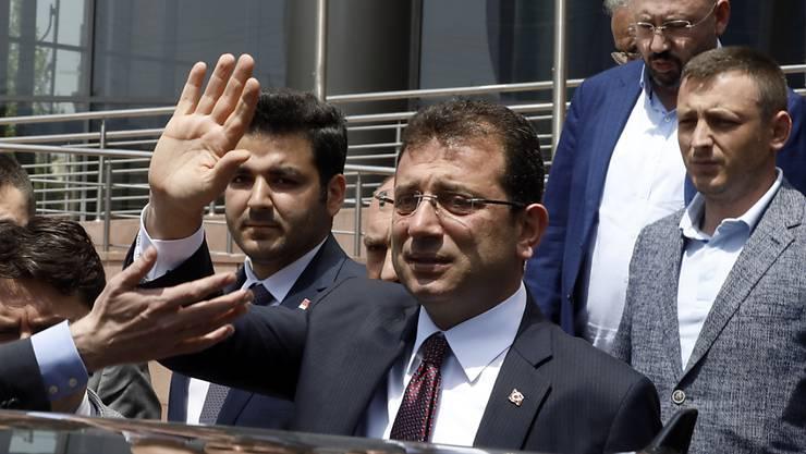 """Der abgesetzte Bürgermeister von Istanbul, Ekrem Imamoglu, verspricht für die Wahlwiederholung am 23. Juni """"null Fehler"""", sehr viel Vorsicht und eine """"Revolution für Demokratie"""". (Archivbild)"""