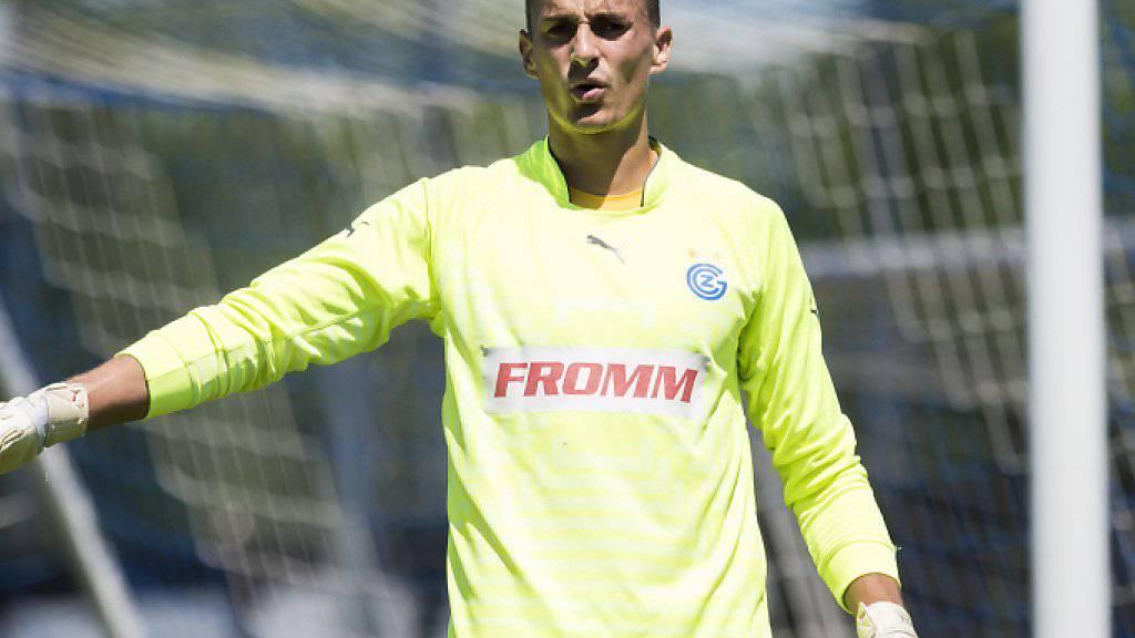 GC-Goalie Joël Mall wird den Zürchern in den nächsten Wochen nicht zur Verfügung stehen