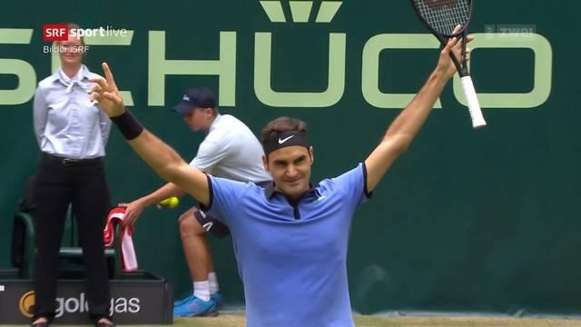 Perfekter Start für Federer