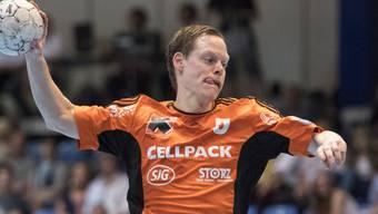 Trotz 7 Toren von Manuel Liniger reichte es für die Kadetten Schaffhausen nicht zum erwarteten Sieg beim Saisonauftakt in Kriens