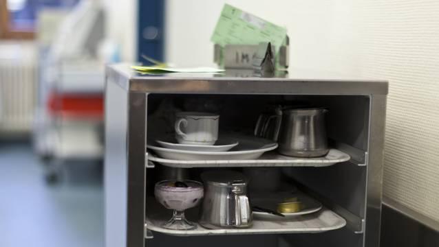 Im Kantonsspital Baden erstickte ein Mann am Essen, das nicht püriert war. (Archiv)