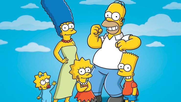 Die Simpsons: Maggie, Marge, Lisa, Homer und Bart (von links)