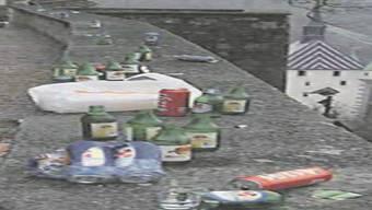 Das Schloss Stein wird regelmässig in eine Müllhalde verwandelt. zvg
