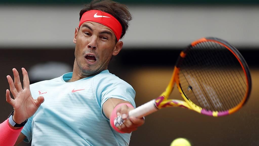 Rafael Nadal punktet mit der Vorhand