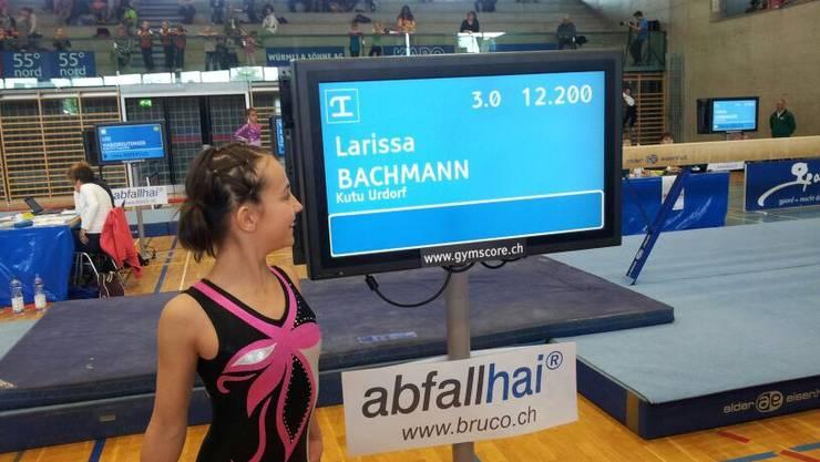 Urdorfs Larissa Bachmann freut sich.