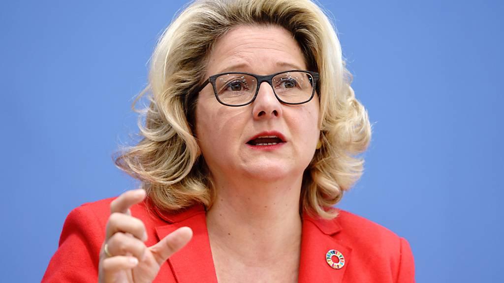 ARCHIV - Svenja Schulze (SPD), Bundesministerin für Umwelt, Naturschutz und nukleare Sicherheit (Archivbild). Foto: Kay Nietfeld/dpa