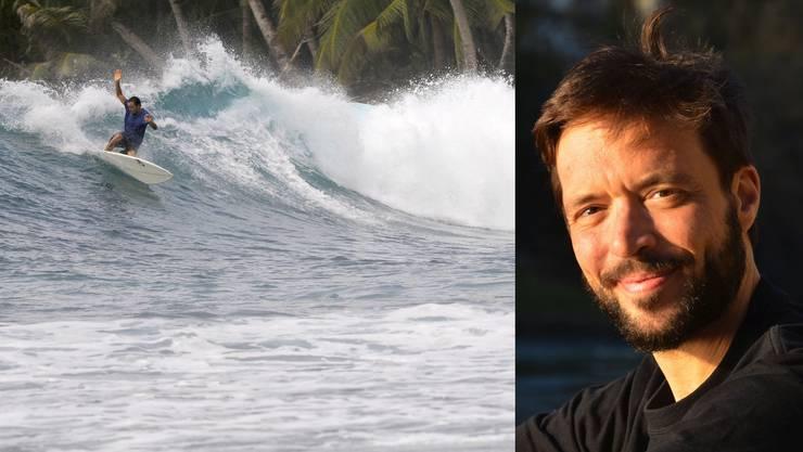 Zum Surfen reist der Brugger Jonas Studer um die ganze Welt.