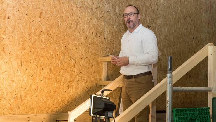 Hugo Schumann, verantwortet bauliche Leitung beim Innenausbau