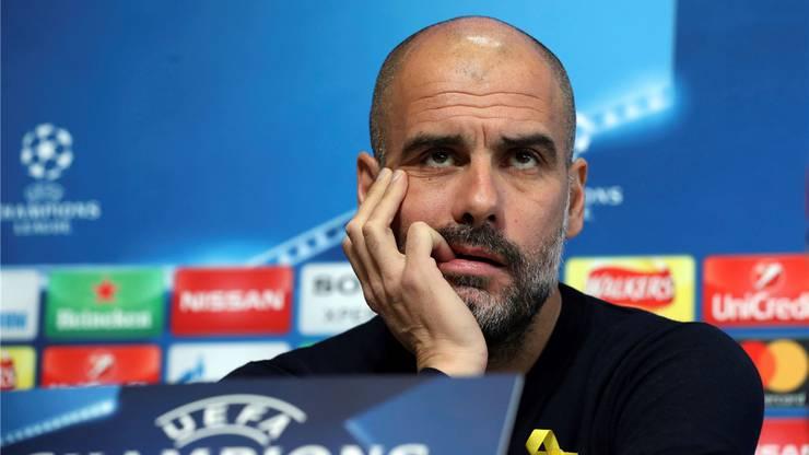 Pep Guardiola - gut gelaunt scheint anders.