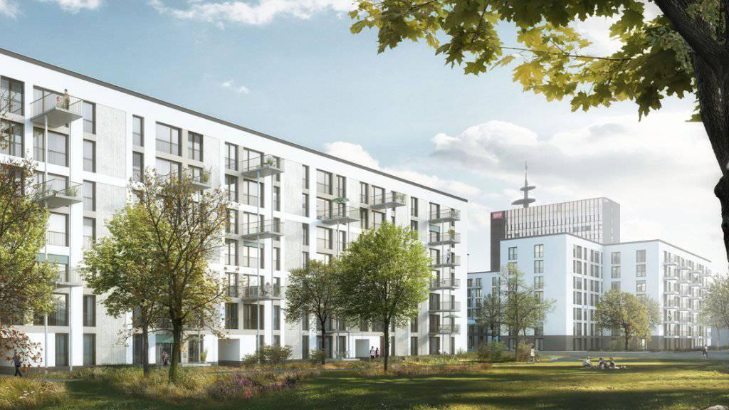 Neue Heimat für 1200 Zürcherinnen und Zürcher: In Seebach kann eine neue Grossüberbauung mit 369 Wohnungen gebaut werden.