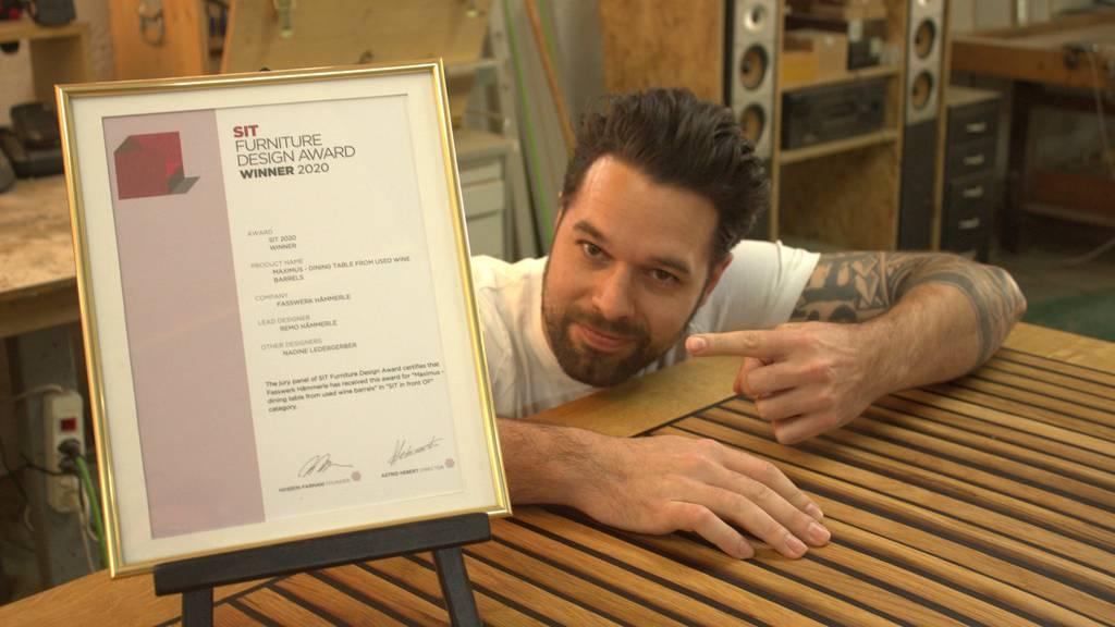 «Jetzt habe ich Blut geleckt» – St.Galler Schreiner holt internationalen Design-Preis