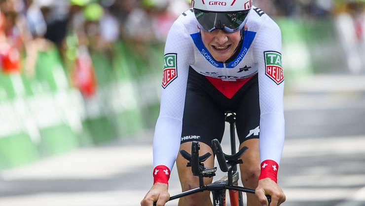 Stefan Küng ist nach seinem Sieg im Einzelzeitfahren neuer Leader der 14. Benelux-Rundfahrt