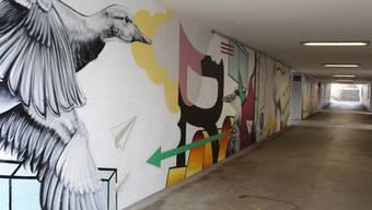 Graffiti-Kunst in Schlieremer Unterführung