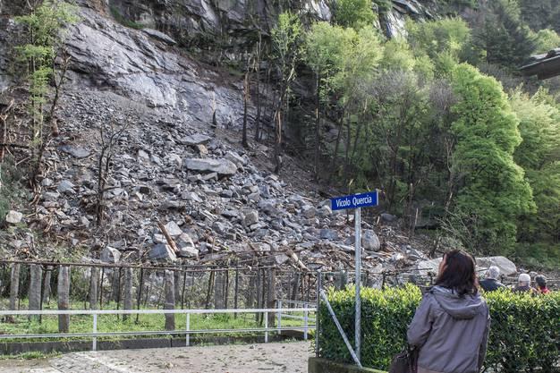 Erdrutsch in Pollegio TI