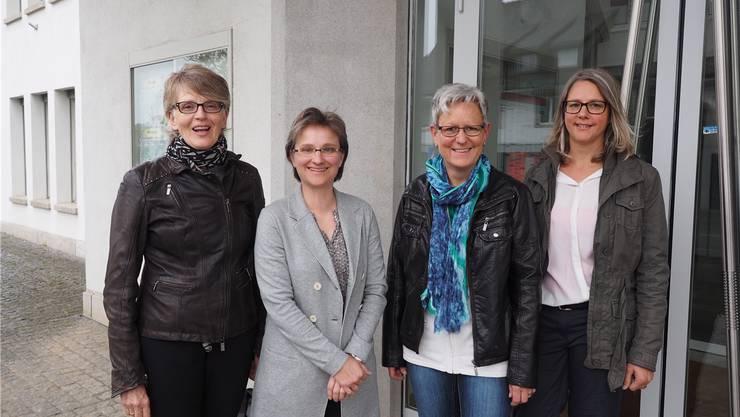 Präsentierten die Idee der gemeinsamen «Oberstufe Fricktal Süd»: Regine Leutwyler (links) und Susanne Gmünder Bamert.