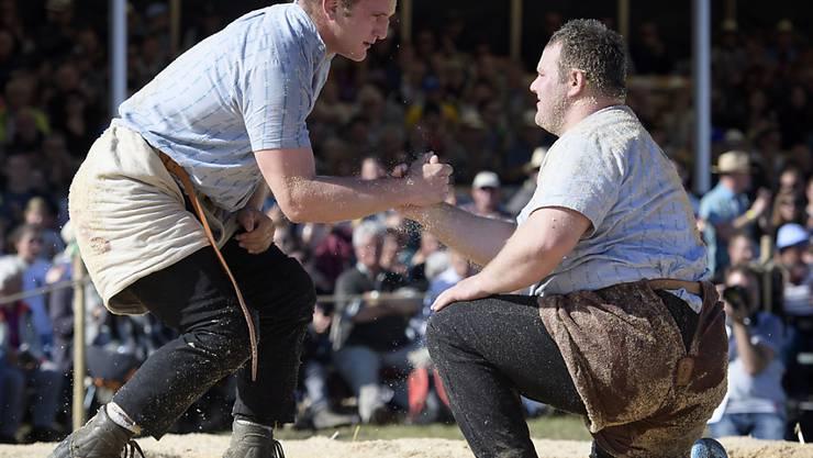 Armon Orlik (links) hilft dem besiegten Domenic Schneider wieder auf die Beine