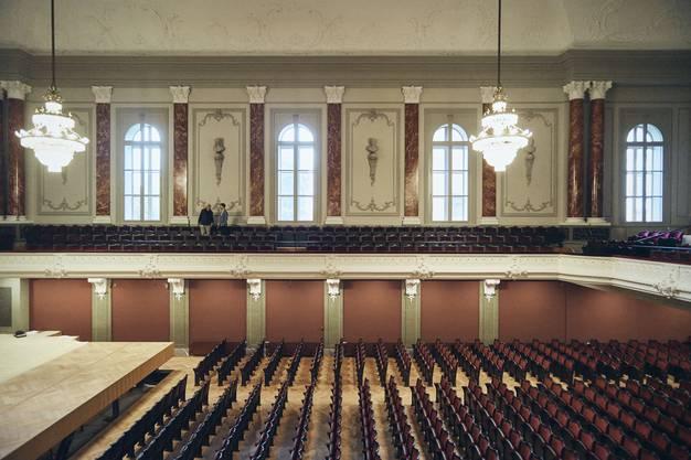 Der renovierte Musiksaal des Stadtcasinos.