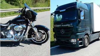 Töfffahrer prallt in Lastwagen – TCS-Heli fliegt ihn ins Spital