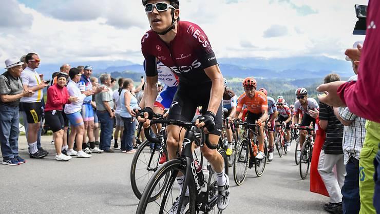 Der letztjährige Tour-de-France-Sieger Geraint Thomas musste die Tour de Suisse nach einem Sturz in der 4. Etappe aufgeben