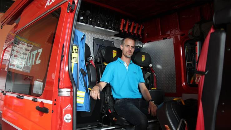 Guido Reijnen, 41, leitet die zweitgrösste Feuerwehr im Bezirk seit 2011. Auf Ende Jahr gibt er seinen Posten ab.