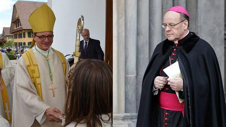Die beiden Bischöfe Felix Gmür und Vitus Huonder.