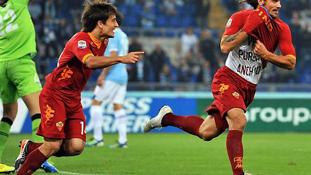 Osvaldo war für das 2:0 der Roma zuständig