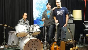 Drei Fünftel der Band Kim Ferrari, Davide Valerio und Mike Kaufmann (von links).