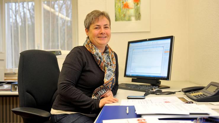 Barbara Leibundgut (FDP) in ihrem Büro im Gemeindehaus.