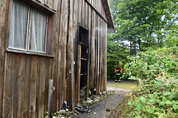 Das Clubhaus der Windischer Guggenmusik Schwellbaumschränzer brannte.