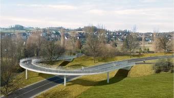 Fotomontage Umfahrung Mellingen