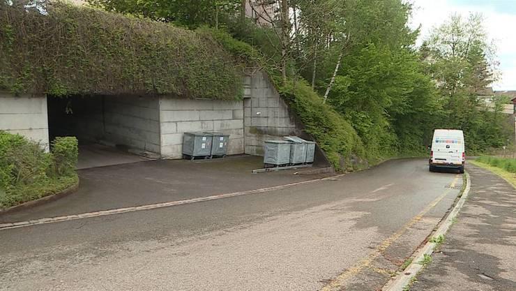Vor dieser Garage in Killwangen wurde der 57-jährige Montenegriner erstochen.