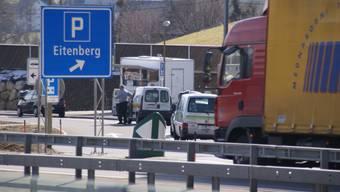 Der Rastplatz Eitenberg mit Imbissstand. (Bild Thomas Stöckli)
