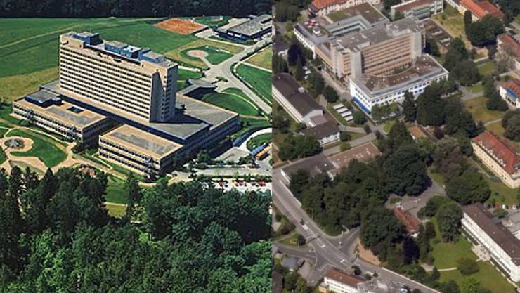 Die Kantonsspitäler Baden und Aargau machen künftig gemeinsame Sache und werden so zum Kantonsspüital Aargau
