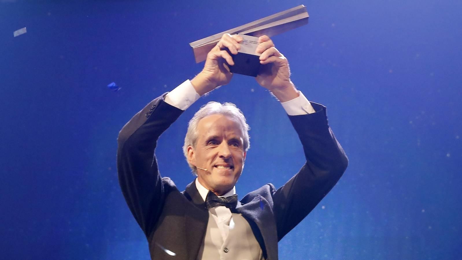 Markus Wopmann bejubelt den Sieg. (© Aargauer Zeitung / André Albrecht)