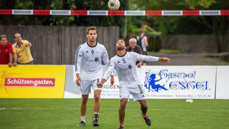 Manuel Mosimann (rechts) und Angreifer Sascha Hagmann ging mit ihrem Team leer aus und mussten sich mit Rang vier begnügen.