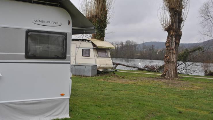 Das weitgehend naturbelassene Gelände liegt direkt am Rhein. Der Zugang zum Schwimmbad ist frei. Der Campingplatz bietet 36 Plätze für Dauermieter und rund 25 für Touristen mit Wohnwagen sowie über 100 Zeltplätze. Die Saison dauert von 23. März bis 16. September.
