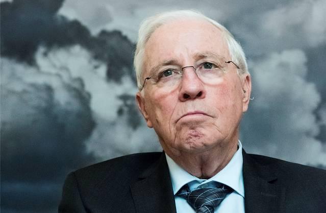 Wolken über der SVP: Christoph Blocher als «Sanierer».