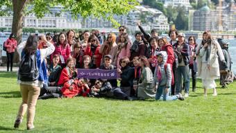 Gestern fluteten 4000 Chinesen die Stadt Luzern.
