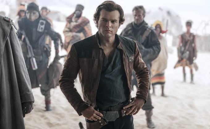 Alden Ehrenreich als junger Han Solo.