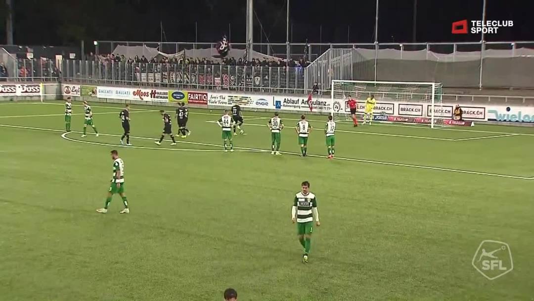 Challenge League 2019/20, 10. Runde: SC Kriens - FC Aarau, 70. Minute