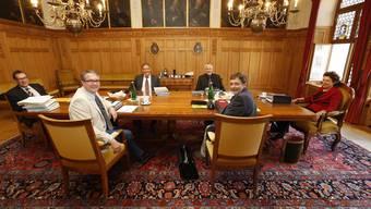 Die erste Sitzung der neuen Solothurner Kantonsregierung